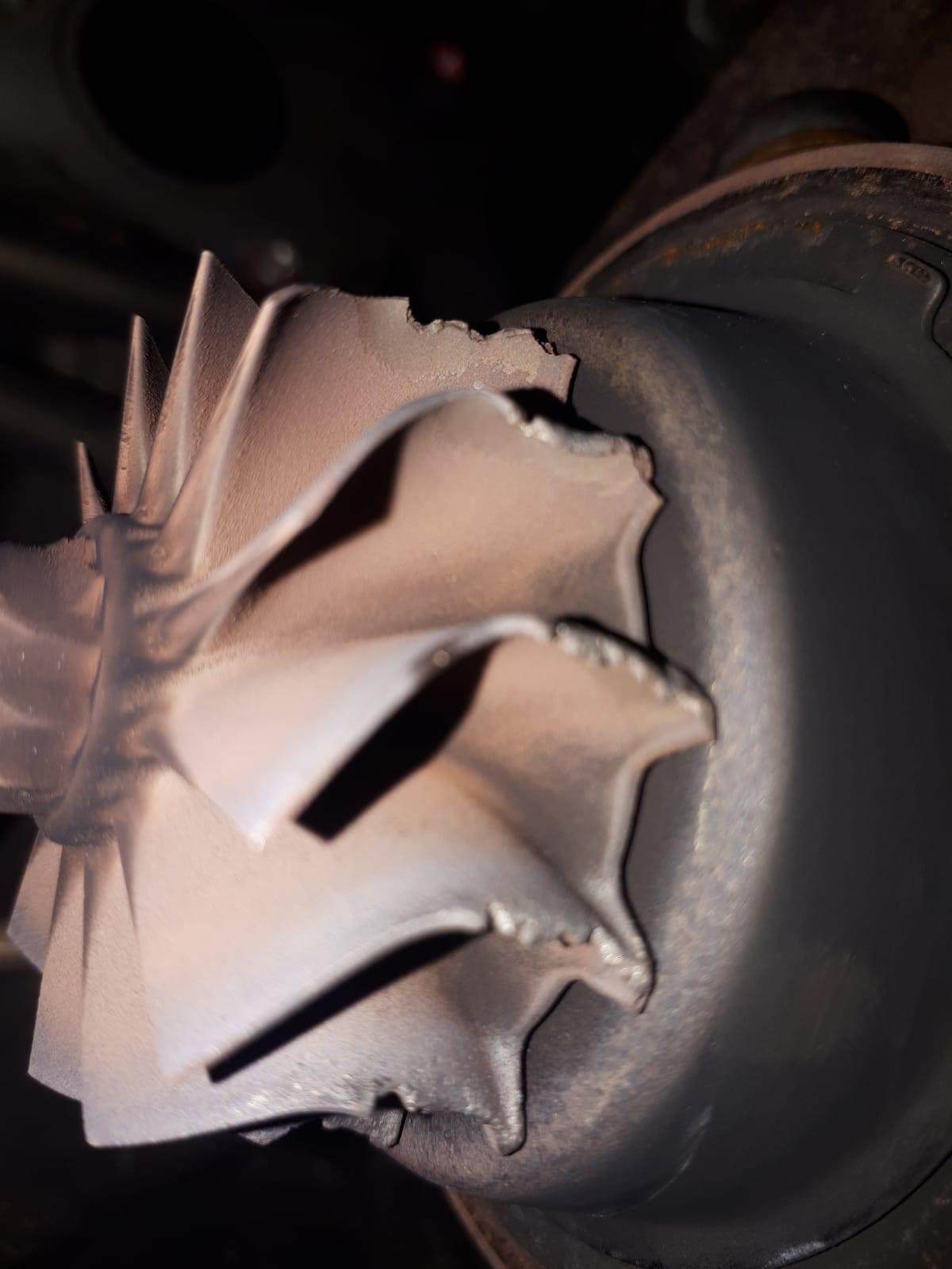 Inslag turbinewiel